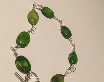 Jasper Protection Amulet Bracelet