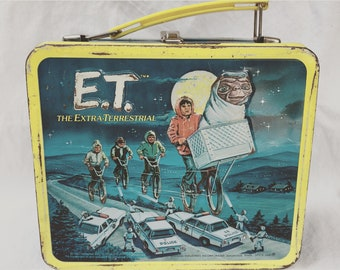 E.T. Metal Lunchbox Vintage and Collectible