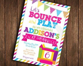 Bounce House Birthday Invitation | Printable | DIY