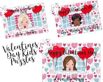 Valentines Day Puzzle,Girls Puzzle , Custom Jigsaw Puzzle,Girls Valentines Day gift, Birthday Gift