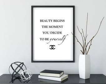 Chanel Print | Coco Chanel | Chanel Quote | Gift for her | Home Decor | Prints