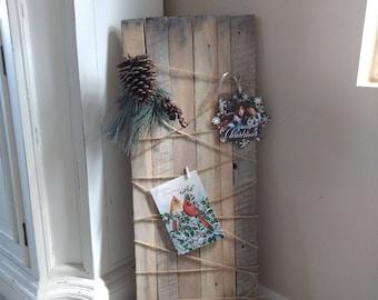 Christmas card holder, card holder, picture holder, picture board, card hanger, wooden card holder, rustic card holder