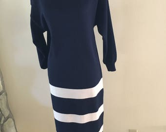 Navy sweater dress