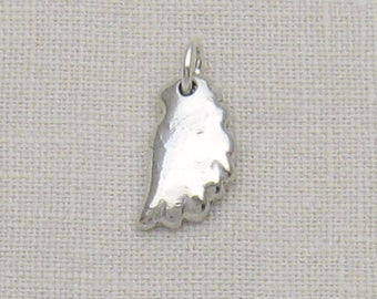 Cremation Jewelry, Ashes Jewelry, Sterling Silver Angel Wing With Your Pet's Cremation Ashes In The Silver, Personalized Memorial Charm