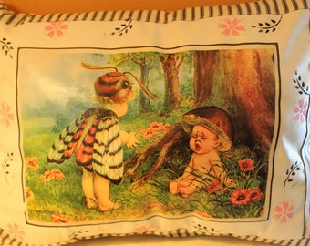 Spring  Hand Sewn, Hand Painted Vintage Children FREE SHIP in USA