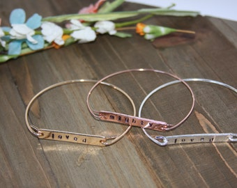 Customizeable Dainty Wire Bracelets