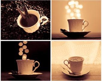 Coffee Photoset Digital Download Coffee wall art Kitchen Printable Art