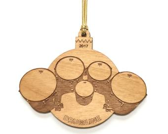 Personalized Wood Quint Drumline Ornament