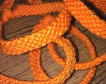 Orange Yarn Bracelet