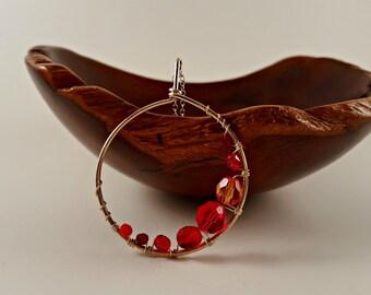 Red Swarovski Crystal Pendant