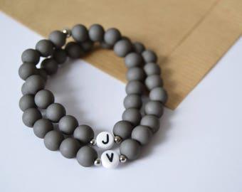 Personalized couple bracelet/couple bracelet/Set of 2