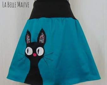 Cat Skirt blue