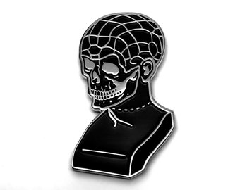 Phrenology Skull Pin