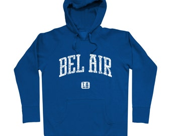 Bel Air Los Angeles Hoodie - Men S M L XL 2x 3x - Gift For Men, Gift for Her, Hoody, Sweatshirt, Bel Air Hoodie, California, LA, Sunset Blvd