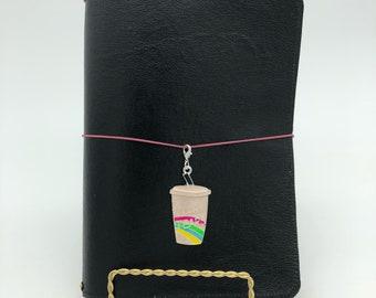 Unicorn Tears Coffee Planner Charm - tn charm, purse charm, planner charm, travelers notebook charm