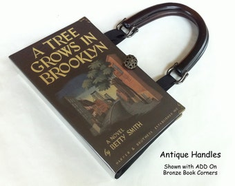 A Tree Grows In Brooklyn Recycled Book Purse - Classical Literary Gift - Book Cover Handbag