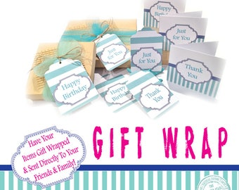 Gift Wrap Option, Gift Wrapping Service, Gift Wrap Add On, Birthday Gift Wrap Option, Thank You Gift Wrap Add On, Gift Wrapping Service