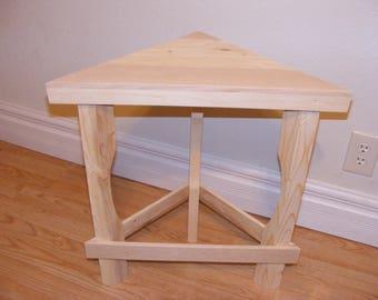Rustic Corner Table