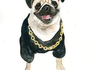 Custom pet portrait  Custom cat portrait Custom dog portrait Custom pet painting Custom dog portrait Original watercolor painting 8X10inch
