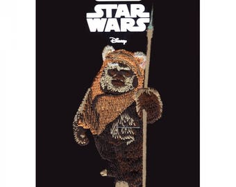 Official Disney Star Wars Ewok Iron On Embroidered Lucas-film Patch