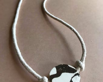 Marbled Earthenware Necklace