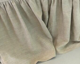 Linen Ruffled Bedskirt