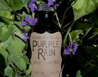 Purple Rain Violet flower Oxymel