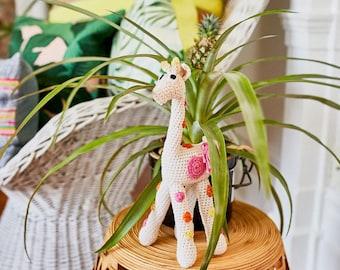 Hand knitted giraffe