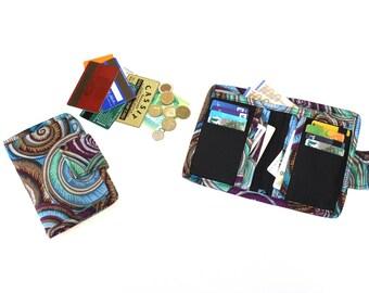 Fabric Bifold Wallet for Women - Billfold Wallet - ladies wallet - cash wallet - womens wallet - coin pocket wallet  - card holder wallet