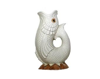 Vintage Fish Vase Fitz and Floyd Fish Figurine Ceramic Fish Vase Beach Décor Seashells Nautical Décor