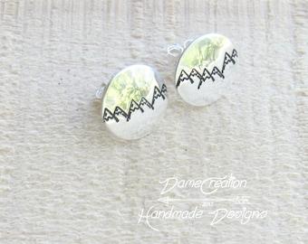 Mountain Stud Earrings, Mountain Earrings, Sterling Silver, Silver Stud Earrings, Mountain, Mountain Jewelry, Nature Jewelry, Mountain Range