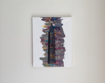 Original Washington Monument Painting 11x14 Acrylic Art DC