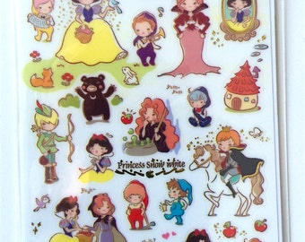 Stickers snow white / Princess white snow (A 1018)