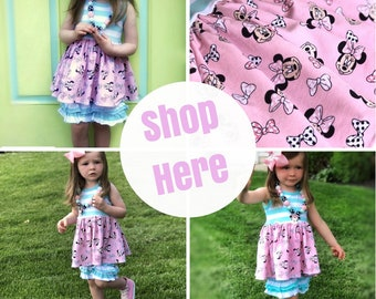 Girls Minnie Mouse Disney outfit knit top shorts first birthday Minnie party set toddler Disney boutique outfit baby 6mo 12mo 18mo 2 3