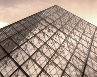 """Pyramid:  Black & White Photography 11 x 14"""" Matted Print"""