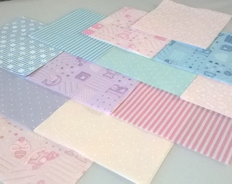 """30 x Baby ABC 5"""" Fabric Patchwork Squares Pieces Charm Pack"""