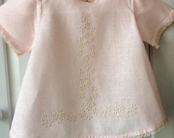 Baby dress, top, handmade, very delicate