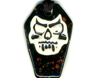 Vampire Skull Coffin Necklace