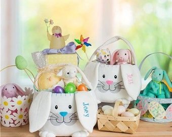 Boy easter basket etsy free personalized embroidered easter baskets for girls boys babies toddlers custom engraved gift bunny eggs monogram negle Images