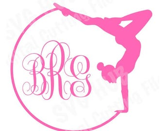 Gymnast in Ring SVG Cutting File, Gymnast SVG, Gymnast Cutting File