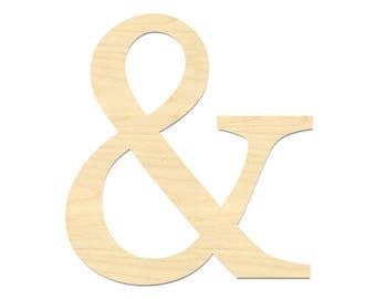 And Symbol Laser Cut Out- & Symbol- Ampersand Sign- Ampersand