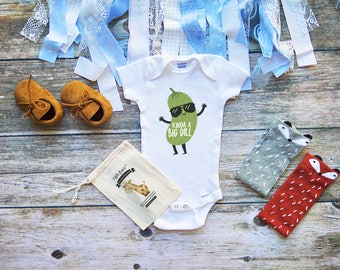 I'm a Big Dill Onesie - Cute Funny Pickle Baby Shirts - Best Baby Shower Gifts - Baby Girl and Boy Clothes - Infant - Popular Onesies - M285