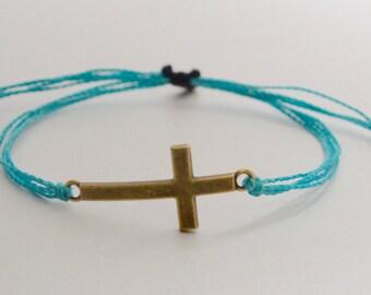 Cross Bracelet, Adjustable Cross Bracelet, Spiritual Bracelet