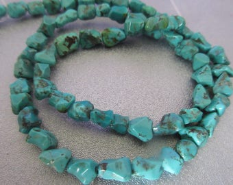 Turquoise Nuggets Beads 52pcs