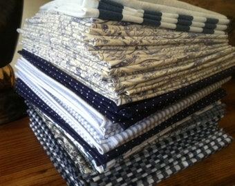 Bulk Family Pack Cloth Napkins, Shades of Blue, you choose the quantity and the size, by CHOW with ME - FREE Shipping