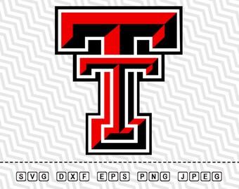 SVG Texas Tech Red Raiders Logo Vector Layered Cut File Silhouette Cameo Cricut Design Stencil Vinyl Decal Tshirt Heat Transfer Iron