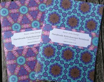 2 Handmade A5 Notebooks - Kaleidoscope Set 5