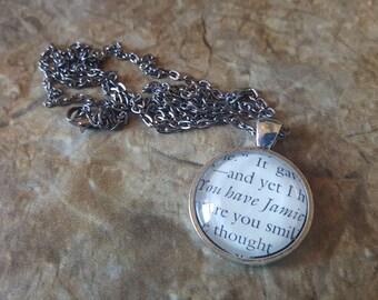 Outlander You Have Jamie book page necklace