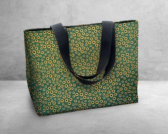 Tiny Sunflowers Carry Bag / Tote Bag / Market Bag / Book Bag / Carry All -