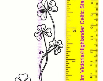 Celtic Garden Shamrock and Mini Unmounted Rubber Stamps